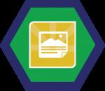 Badges title hexagon BG-01