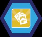 Badges title hexagon BG-02