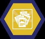 Badges title hexagon BG-03