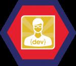 Badges title hexagon BG-04