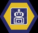 Badges title hexagon BG-07