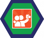 Badges title hexagon BG-09