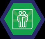 Badges title hexagon BG-13