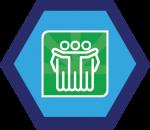 Badges title hexagon BG-14