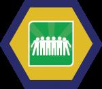 Badges title hexagon BG-15