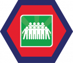 Badges title hexagon BG-16