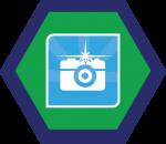 Badges title hexagon BG-19