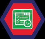 Badges title hexagon BG-20