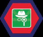 Badges title hexagon BG-21