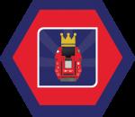 Badges title hexagon BG-23